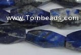 CNG2714 15.5 inches 12*25mm - 14*30mm faceted nuggets lapis lazuli beads