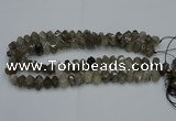 CNG2717 10*14mm - 13*18mm faceted nuggets black rutilated quartz beads
