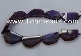 CNG2741 15.5 inches 28*40mm - 30*45mm freeform agate beads