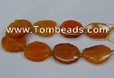 CNG2784 15.5 inches 35*40mm - 45*50mm freeform agate beads