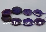 CNG2785 15.5 inches 35*40mm - 45*50mm freeform agate beads