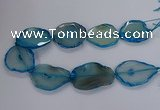 CNG2792 15.5 inches 30*40mm - 40*55mm freeform agate beads