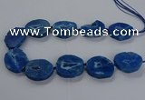 CNG2814 15.5 inches 25*35mm - 30*45mm freeform druzy agate beads
