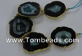 CNG2854 8 inches 35*45mm - 45*55mm freeform druzy agate beads