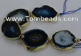 CNG2855 8 inches 35*45mm - 45*55mm freeform druzy agate beads