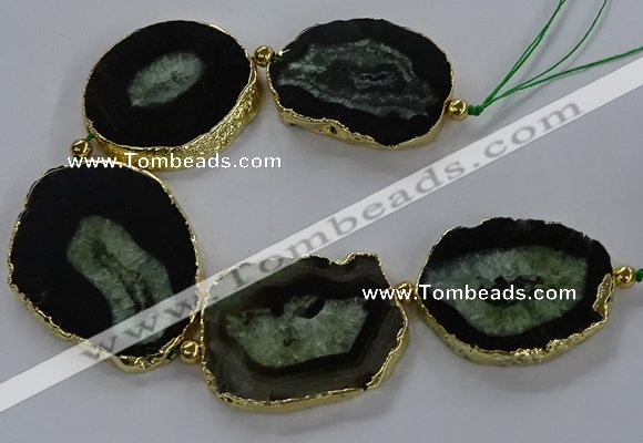 CNG2856 8 inches 35*45mm - 45*55mm freeform druzy agate beads