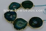 CNG2862 8 inches 40*45mm - 50*60mm freeform druzy agate beads
