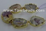 CNG2866 8 inches 35*40mm - 40*50mm freeform druzy agate beads