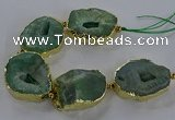 CNG2869 8 inches 35*40mm - 40*50mm freeform druzy agate beads