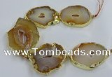 CNG2881 8 inches 40*50mm - 50*60mm freeform druzy agate beads