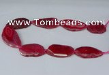 CNG2952 15.5 inches 25*35mm - 30*50mm freeform agate beads