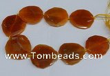 CNG2958 15.5 inches 42*45mm - 45*50mm faceted freeform agate beads