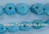 CNG2970 15.5 inches 8*10mm - 15*18mm freeform druzy agate beads