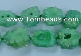 CNG2971 15.5 inches 8*10mm - 15*18mm freeform druzy agate beads