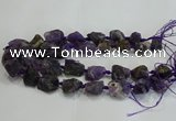 CNG3019 15.5 inches 15*20mm - 22*30mm nuggets amethyst beads