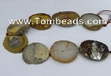 CNG3030 15.5 inches 35*40mm - 45*50mm freeform druzy agate beads