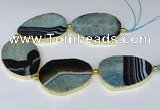 CNG3039 7.5 inches 35*45mm - 40*55mm freeform druzy agate beads