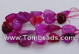 CNG3048 25*30mm - 30*40mm nuggets agate gemstone beads