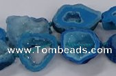 CNG3065 15.5 inches 13*18mm - 18*25mm freeform druzy agate beads