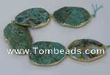 CNG3120 8 inches 30*45mm - 40*50mm freeform ocean agate beads