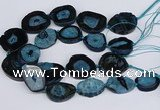 CNG3134 15.5 inches 30*35mm - 35*45mm freeform druzy agate beads