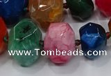 CNG3180 15.5 inches 12*16mm - 25*30mm nuggets agate beads