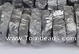 CNG3236 15.5 inches 20*25mm - 25*30mm nuggets plated white crystal beads