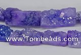 CNG3251 15.5 inches 8*15mm - 11*20mm freeform plated druzy agate beads