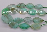 CNG3362 15.5 inches 30*35mm - 35*45mm faceted freeform agate beads