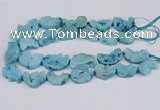 CNG3377 20*30mm - 30*45mm freeform plated druzy agate beads