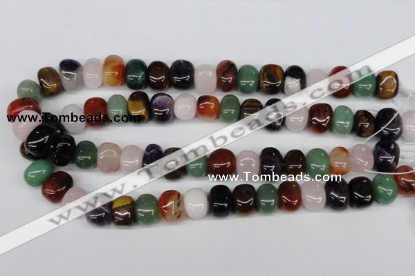 CNG34 15.5 inches 11*15mm nuggets mixed gemstone beads