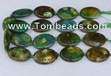 CNG3454 15.5 inches 30*40mm oval dragon veins agate beads