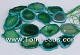 CNG3464 15.5 inches 35*40mm - 45*55mm freeform agate beads