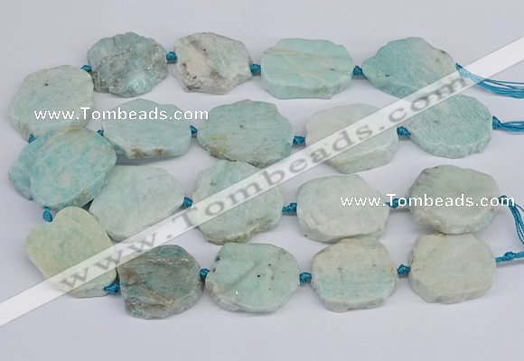 CNG3470 15.5 inches 30*35mm - 35*45mm freeform amazonite beads