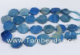CNG3485 20*25mm - 30*35mm freeform chrysanthemum agate beads