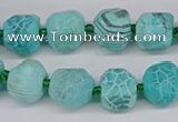 CNG3503 15.5 inches 12mm - 14mm faceted nuggets agate beads