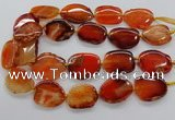 CNG3514 15.5 inches 20*25mm - 25*35mm freeform agate slab beads