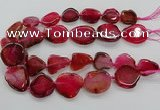 CNG3515 15.5 inches 20*25mm - 25*35mm freeform agate slab beads