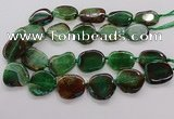 CNG3517 15.5 inches 20*25mm - 25*35mm freeform agate slab beads