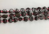 CNG3579 15.5 inches 10*14mm - 12*16mm nuggets garnet gemstone beads