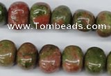 CNG36 15.5 inches 11*15mm nuggets unakite gemstone beads