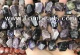 CNG3607 15.5 inches 13*20mm - 15*24mm faceted nuggets charoite beads