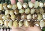 CNG3609 15.5 inches 13*20mm - 15*24mm faceted nuggets yellow opal beads