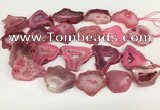 CNG3639 15.5 inches 22*30mm - 30*40mm freeform druzy agate beads