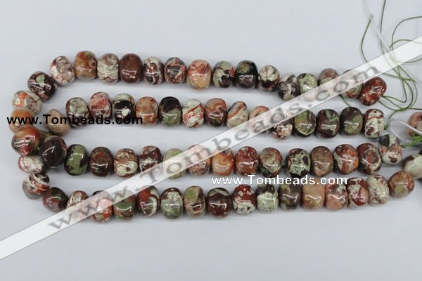 CNG37 15.5 inches 11*15mm nuggets rainforest agate gemstone beads