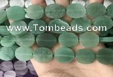 CNG3706 15.5 inches 15*20mm oval rough green aventurine beads