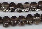 CNG38 15.5 inches 11*15mm nuggets smoky quartz gemstone beads