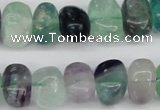 CNG39 15.5 inches 11*15mm nuggets fluorite gemstone beads