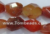 CNG392 15.5 inches 18*20mm � 22*25mm faceted nuggets agate beads