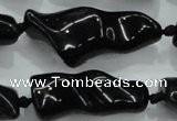 CNG423 15.5 inches 15*20mm - 25*50mm nuggets obsidian beads